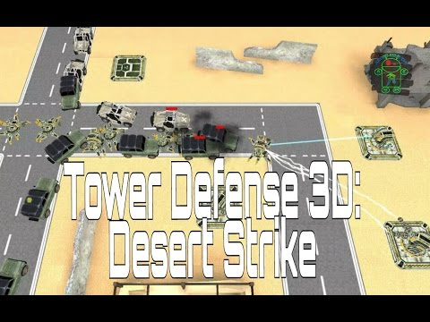 Tower Defense 3D: Desert Strike - HD Android Gameplay - Tower Defense Games - Full HD Video (1080p)