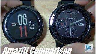 Comparison: Amazfit Pace vs. Stratos (Pace 2) Smartwatch