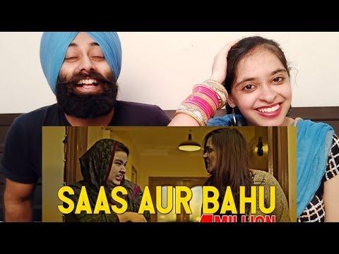 Indian Reaction On Saas Aur Bahu   Mooroo   PunjabiReel TV