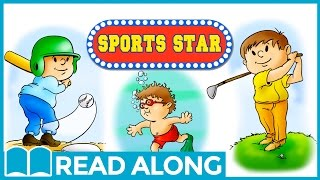 Read Along Story Book for Kids Ages 4-7 | Sports Star