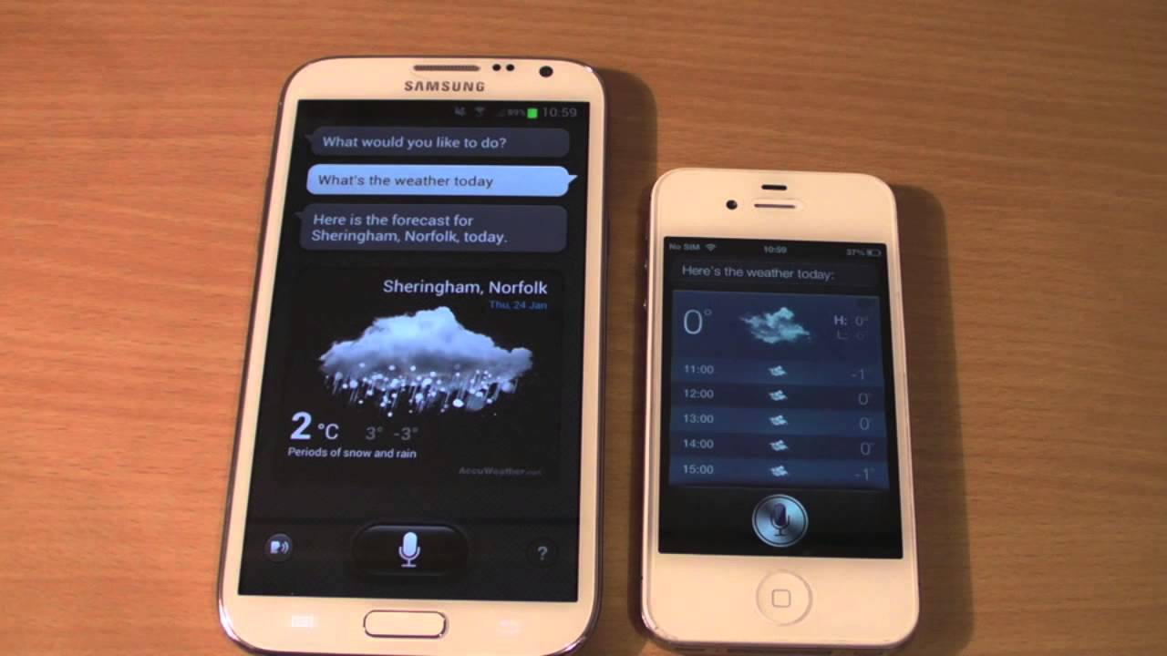 Samsung Galaxy Note 2 Vs Iphone 4s - YouTube