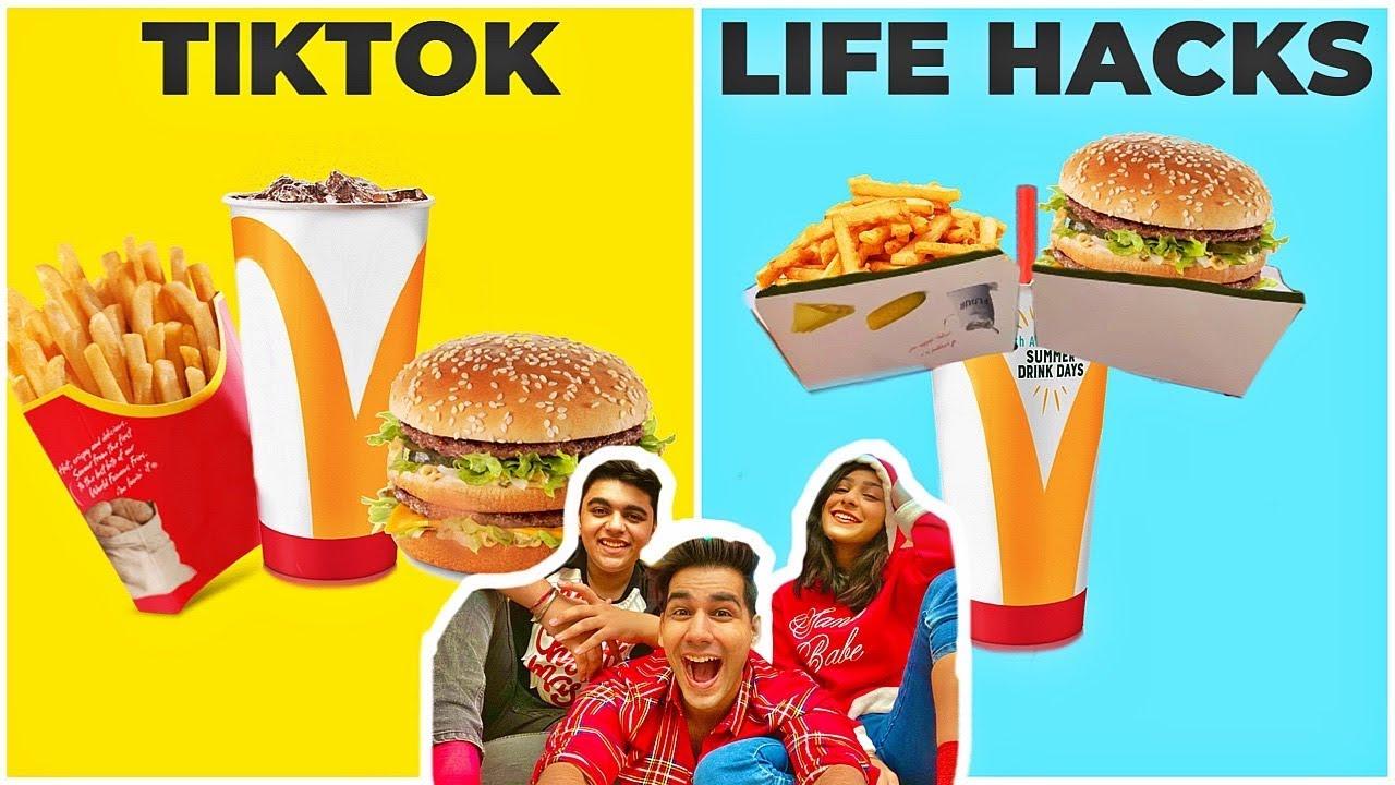 TIKTOK LIFE HACKS Challenge | Rimorav Vlogs - YouTube