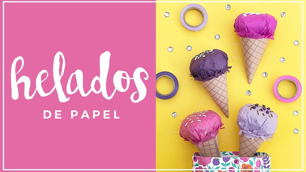 como hacer un helado de papel diy - YouTube