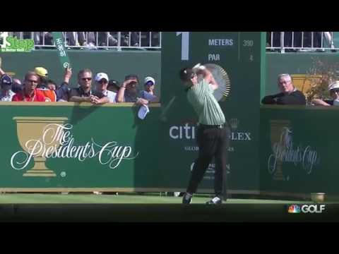 Sweet Swinging Louis Oosthuizen's Awesome Golf Shots 2015 Presidents Cup
