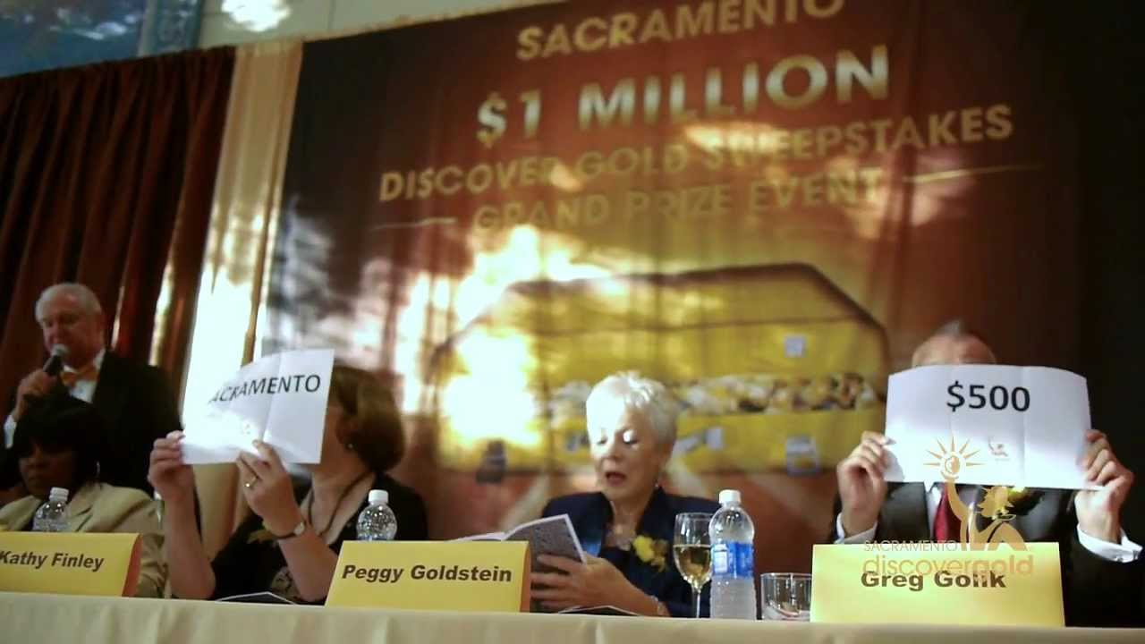 Sacramento Convention and Visitor Bureau Discover Gold Sweepstakes Million  Dollar Event