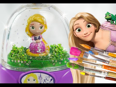 Thumbnail: Rapunzel Glitzi globes inspired / paint your own glitter dome - roziberry