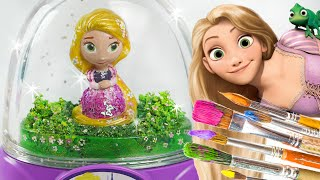 Rapunzel Glitzi globes inspired / paint your own glitter dome - roziberry