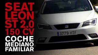 Seat León ST 2.0 TDI 150 cv. Vídeo prueba. Coche mediano familiar
