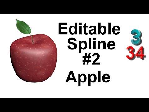 Как сделать 🍎 яблоко в 3ds max. Нарисовать. Line. Editable Spline. Редактируемый Сплайн. Урок 32