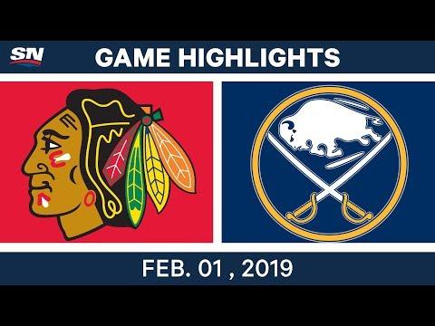NHL Highlights   Blackhawks vs. Sabres - Feb. 1, 2019