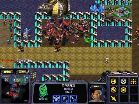 스타크래프트 유즈맵 빨강미네랄털기 StarCraft Use Map Red Minerals Usurp