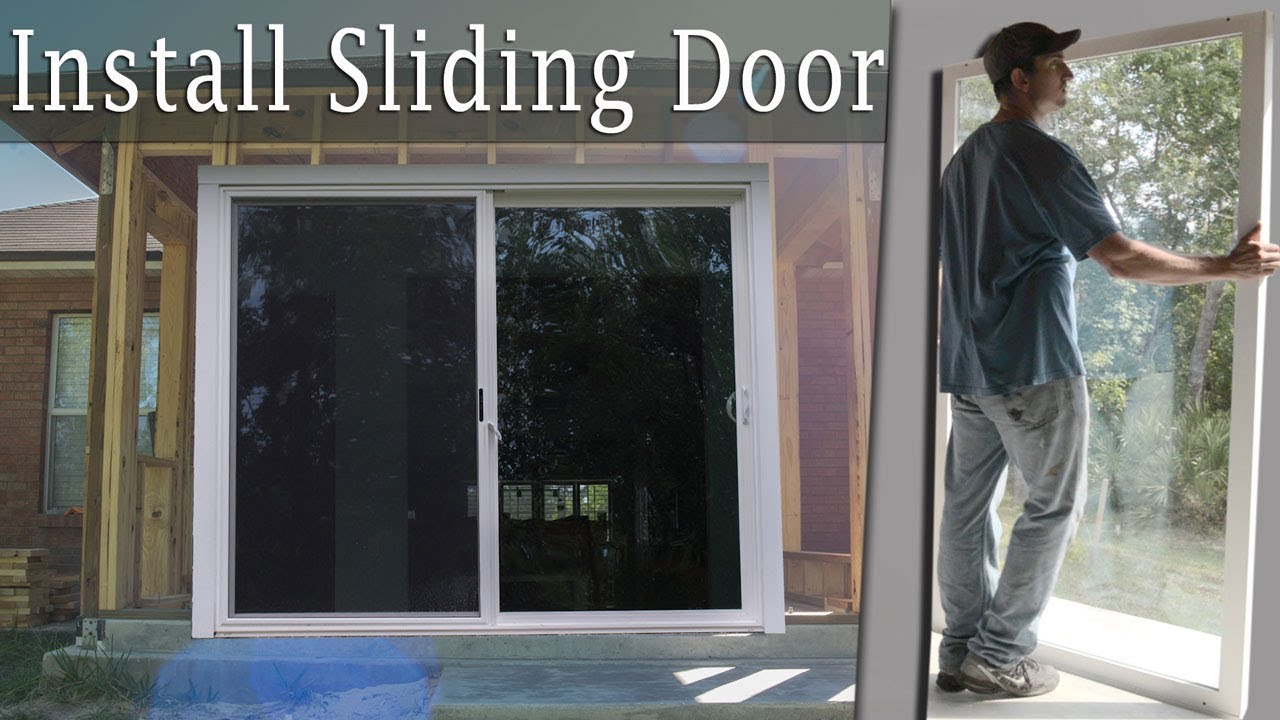 installing a large sliding glass door turn porch into room vid 9 youtube. Black Bedroom Furniture Sets. Home Design Ideas