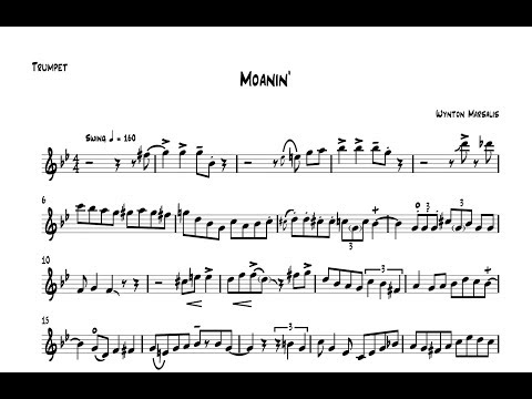 Wynton Marsalis - Moanin' Trumpet Solo [Free PDF]