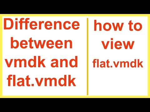 how to view flat vmdk | Difference between vmdk and flat