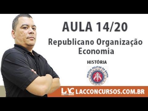 História da Bahia 2017 -  Republicano - Organização - Economia - 14/20