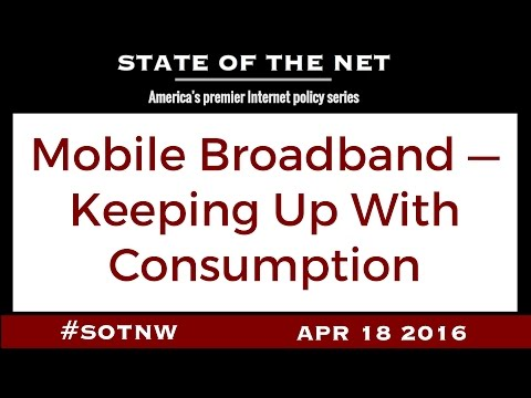 Mobile Broadband — Keeping Up With Consumption