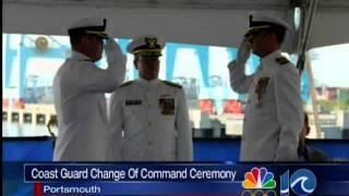 Coast Guard change of command ceremony