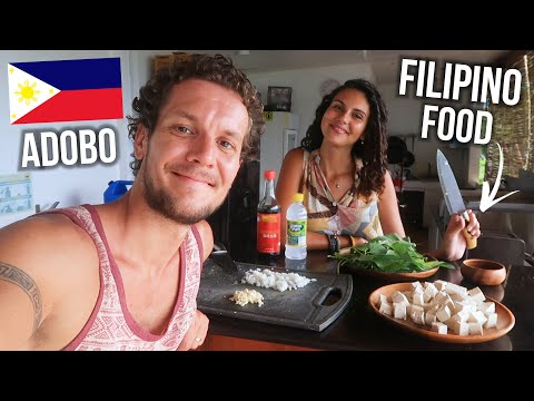 FOREIGNERS COOK ADOBO DISH! 🇵🇭 FAMOUS FILIPINO FOOD