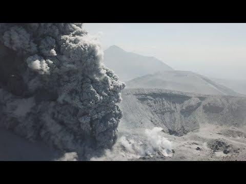 ドローン映像:霧島新燃岳噴火 Shinmoedake Eruption Incredible Drone Footage