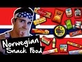 American tries Norwegian Food & Snacks!!!