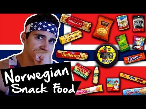 American tries Norwegian Food & Snacks!!!
