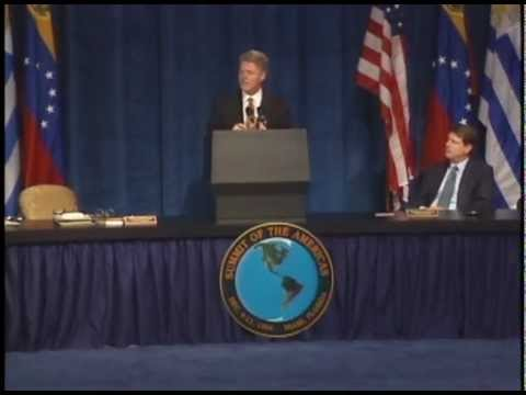 President Clinton at the Summit of the Americas (1994)