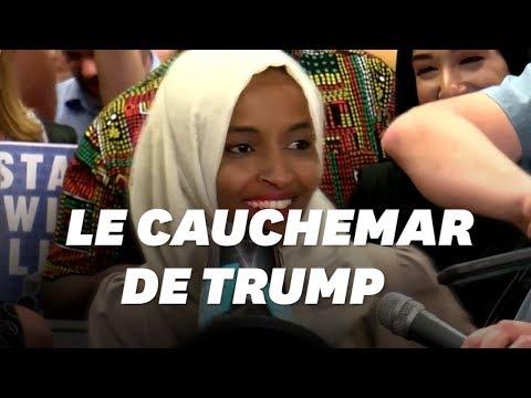 Insultée par Donald Trump, Ilhan Omar acclamée dans son fief