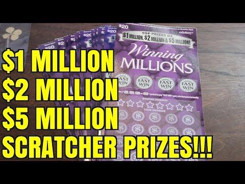 $1 MILLION, $2 MILLION, or $5 MILLION? Winning Millions Scratcher