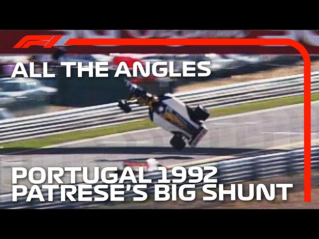 Patrese's High-Flying Crash: All The Angles | 1992 Portuguese Grand Prix