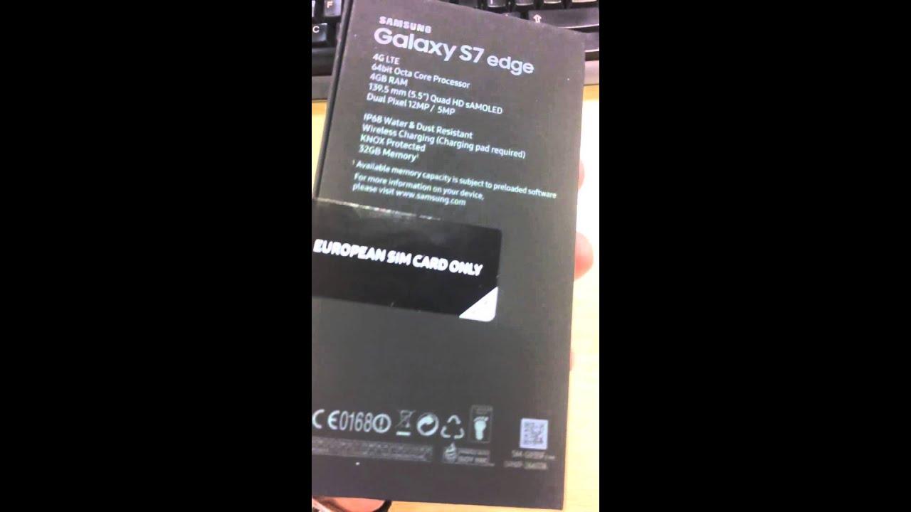 samsung galaxy s7 unopened box 32gb gold platinum edge
