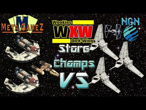 X-Wing Store Championship (UNB 2016) | Game 1 - Wolf Pack vs Shuttle Swarm