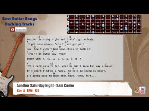 Another Saturday Night - Sam Cooke Guitar Backing Track with scale, chords and lyrics