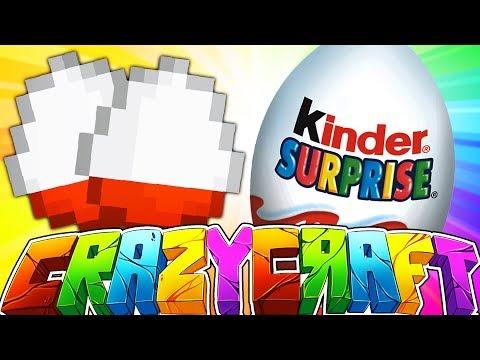 KINDER SUPRISE EGGS INSIDE OF MINECRAFT?! - MINECRAFT CRAZY CRAFT 2 #9