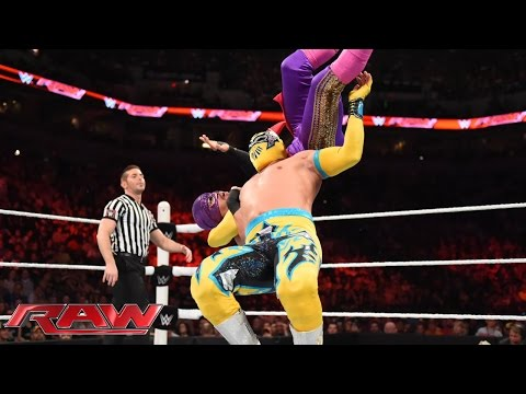 The Prime Time Players & The Lucha Dragons vs. The New Day & Los Matadores: Raw, Aug. 17, 2015