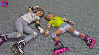 Влог Едем на роллердром Кататься на Роликах Видео для Детей