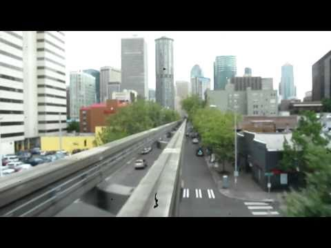 Seattle Monorail Ride Video (HD) Seattle Center to Westlake