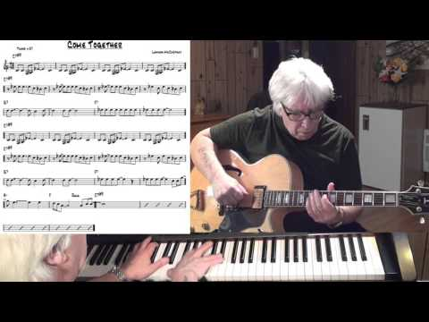 Come Together - Jazz guitar & piano cover ( Lennon & McCartney )