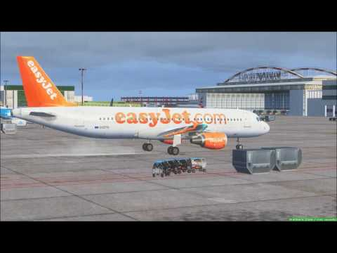 FSX - Rainy day for Fiumicino-Linate Easyjet flight