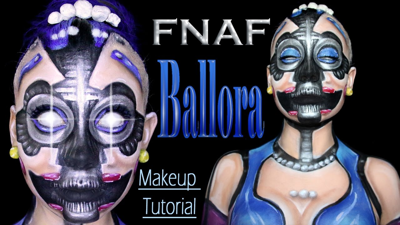 ballora five nights at freddys makeup tutorial youtube