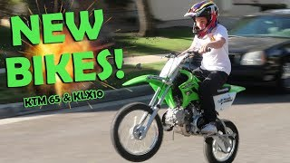 "I GOT 2 NEW MOTORCYCLES!""(KLX 110 & KTM 65)"