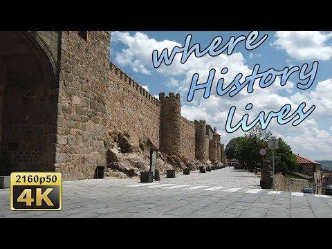 Avila, City Walk - Spain 4K Travel Channel