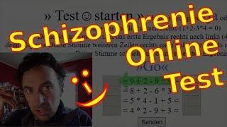 ONLINE Schizophrenie Persönlichkeits-Test / a schizophrenia study