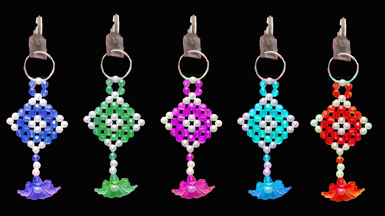How To Make Crystal Beads Key Chain  Beaded Keychains  You Can Do This