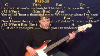 Four Five Seconds (Rihanna) Bass Guitar Cover Lesson in D with Chords/Lyrics