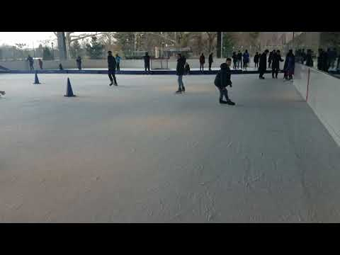 Freestyle ice skating NYC the best trick ever