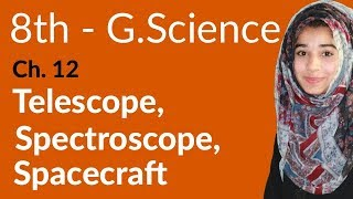 8th Class G.Science - Ch 12 - Telescope,Spectroscope And Spacecraft - General Science 8th Class