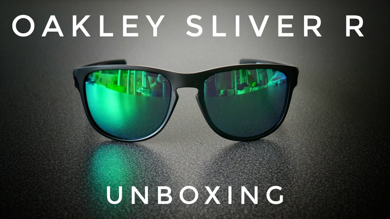 Oakley Sliver R Jade Iridium Unboxing  4K  - YouTube c641b22019