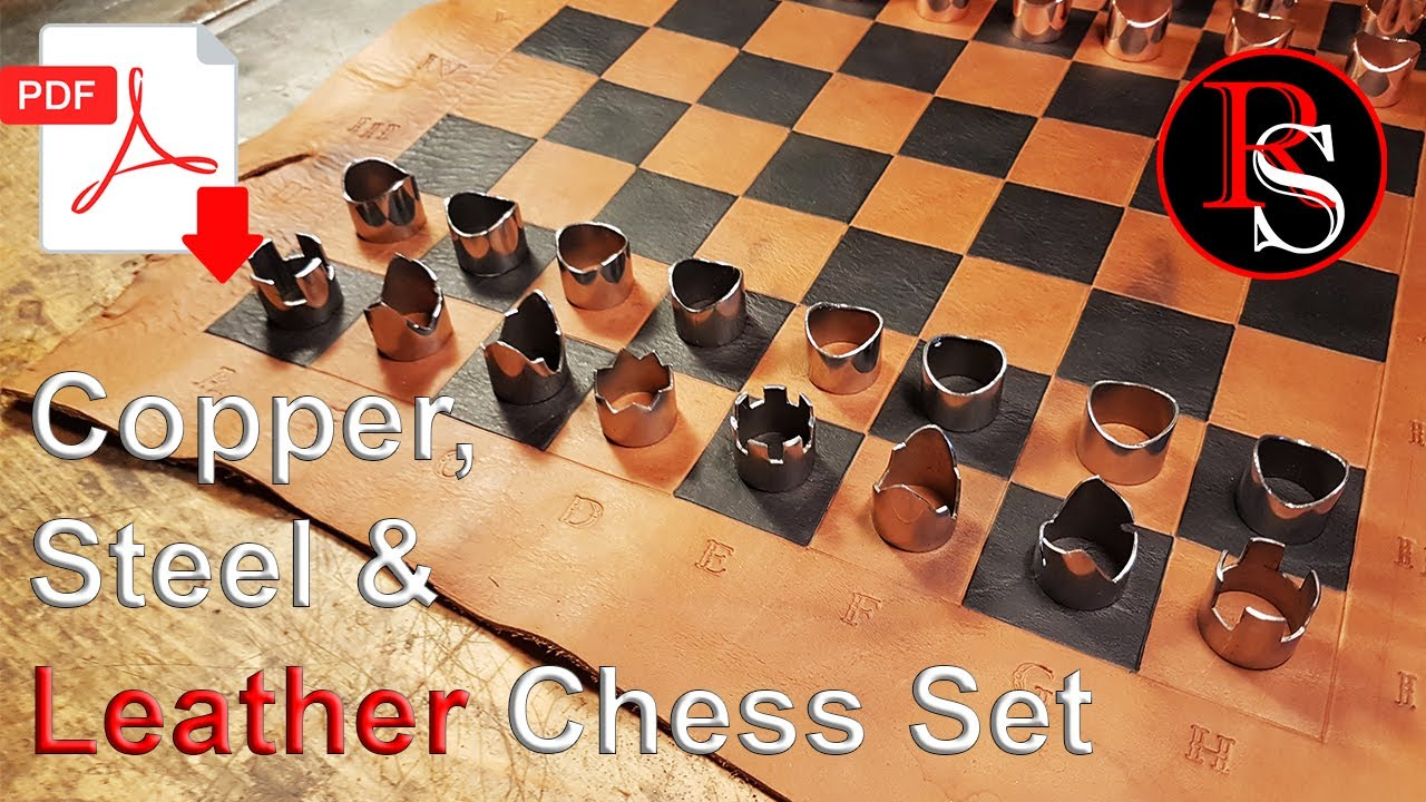 Diy Making A Chess Set Leather Chess Board And Copper