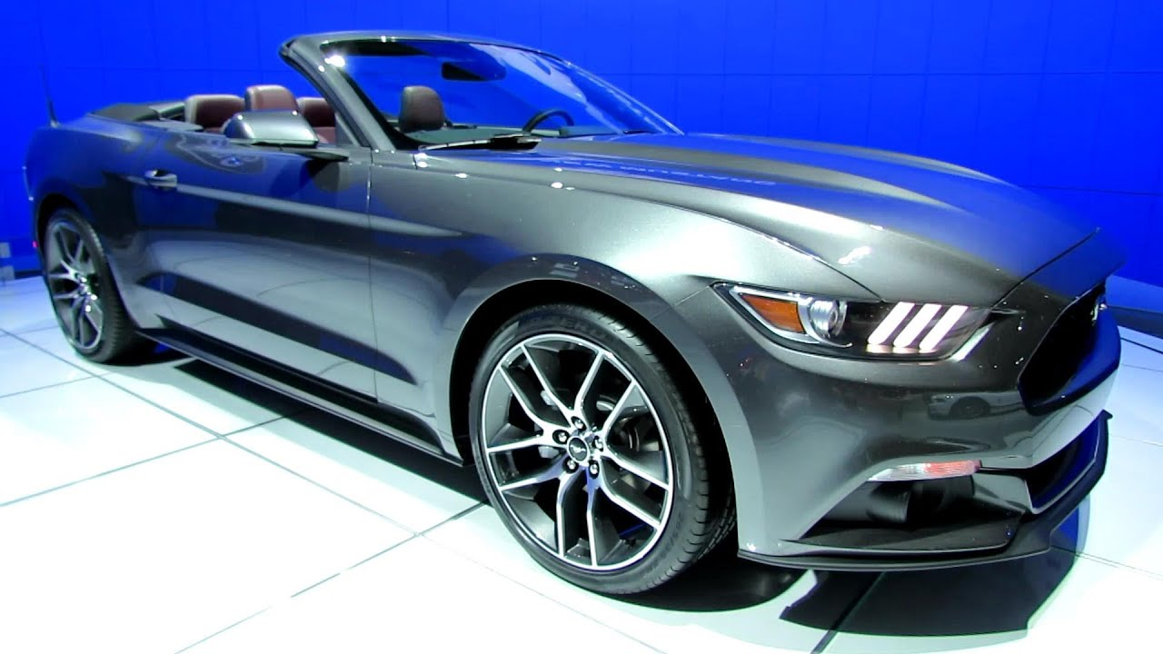 2015 ford mustang convertible exterior and interior walkaround 2014 toronto auto show youtube