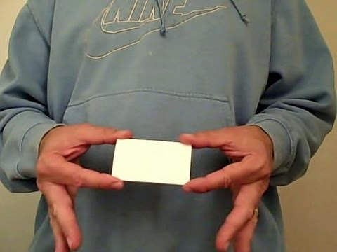 Business card trick youtube business card trick colourmoves